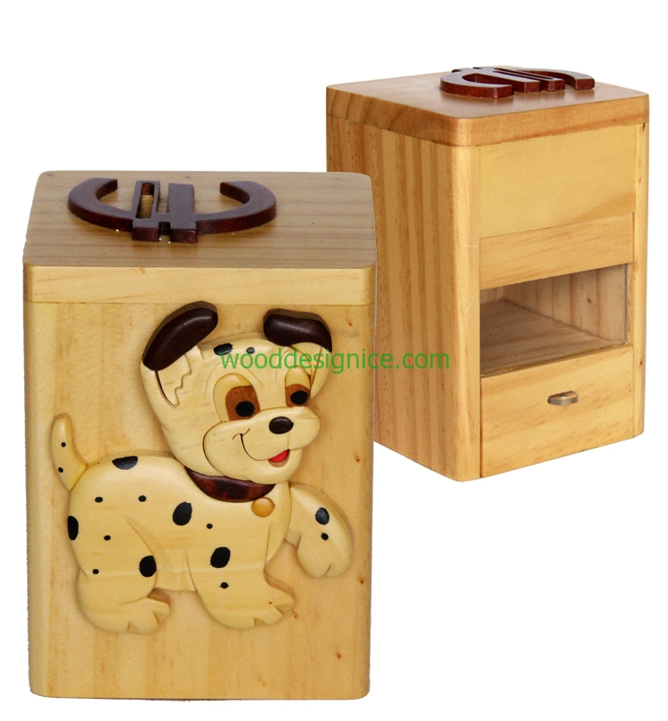 Wooden Money Box MON003