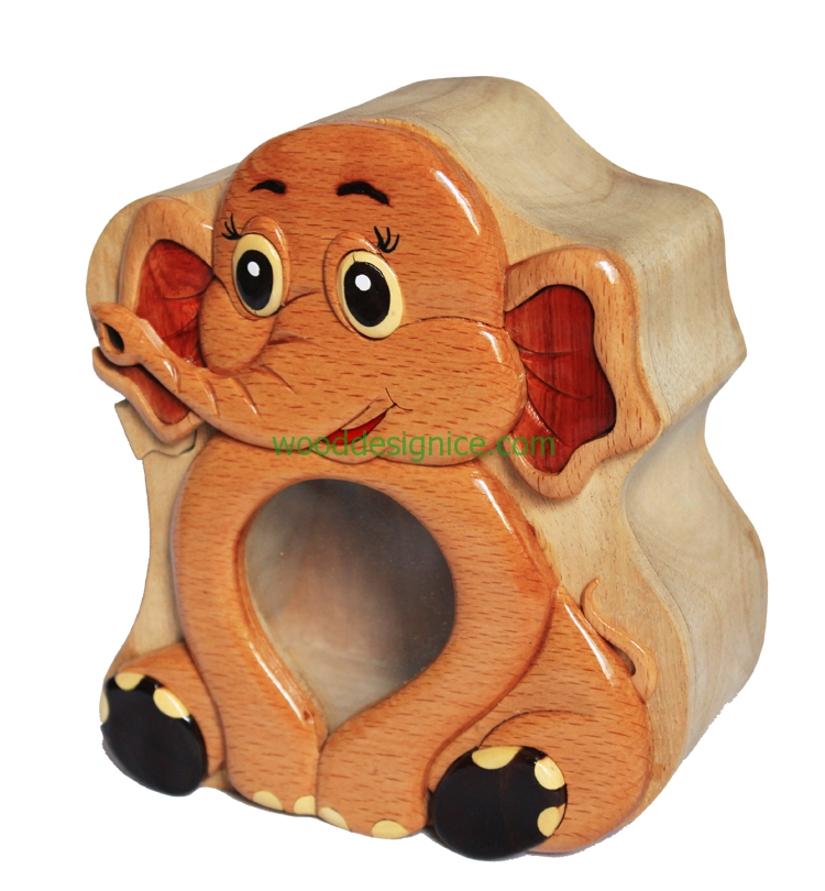 Wooden Money Box MON007
