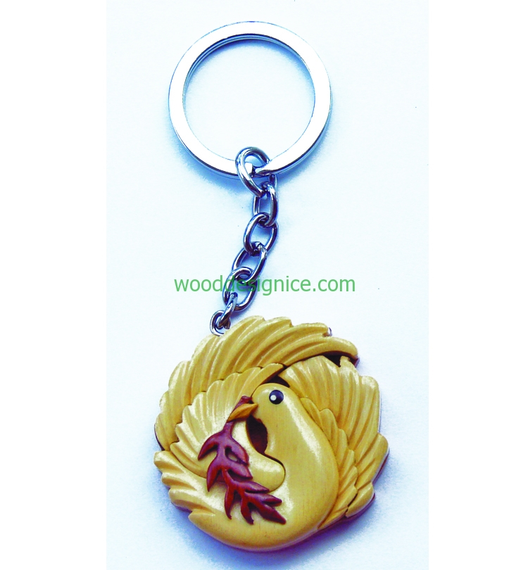 Wooden Keychain KEY030