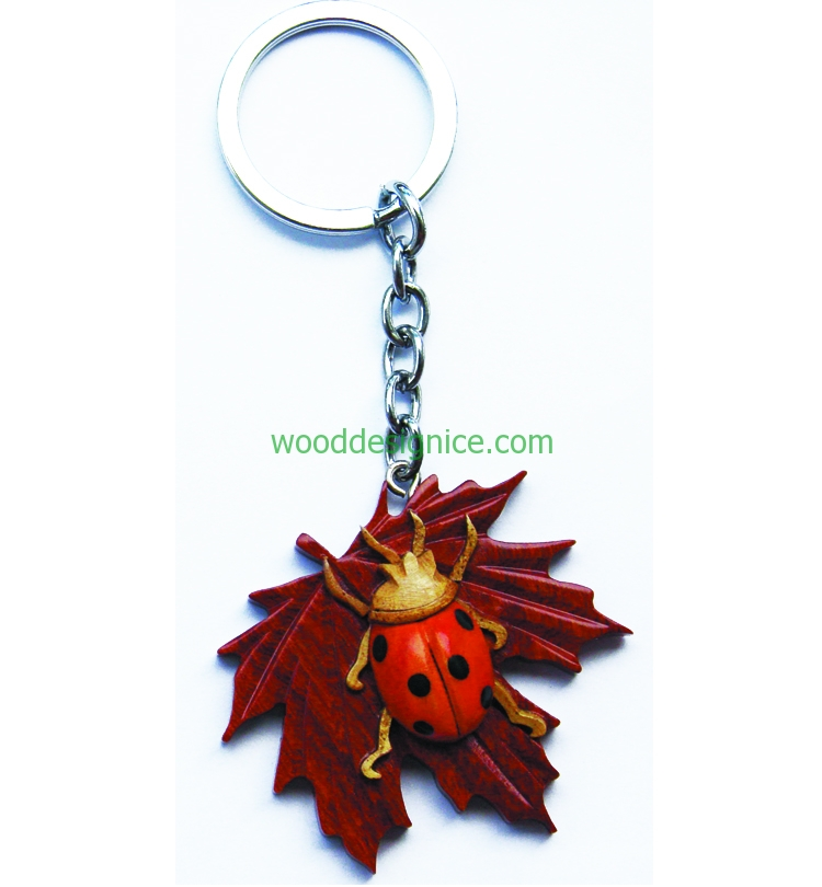 Wooden Keychain KEY033