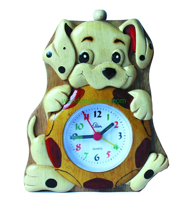 Wooden Clock Alarm CLK001