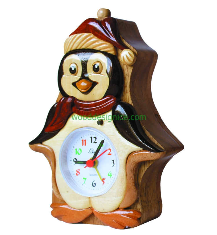 Wooden Clock Alarm CLK004