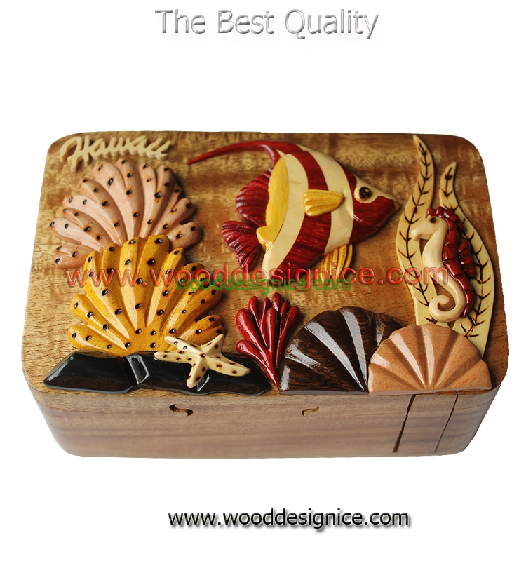 Wooden Puzzle Box PUZ087
