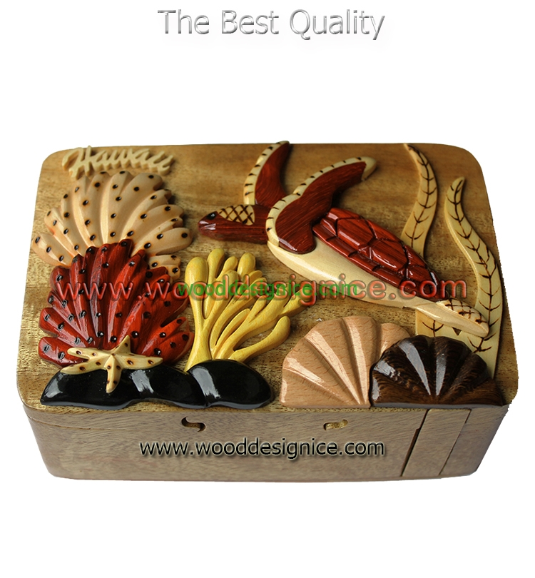 Wooden Puzzle Box PUZ089