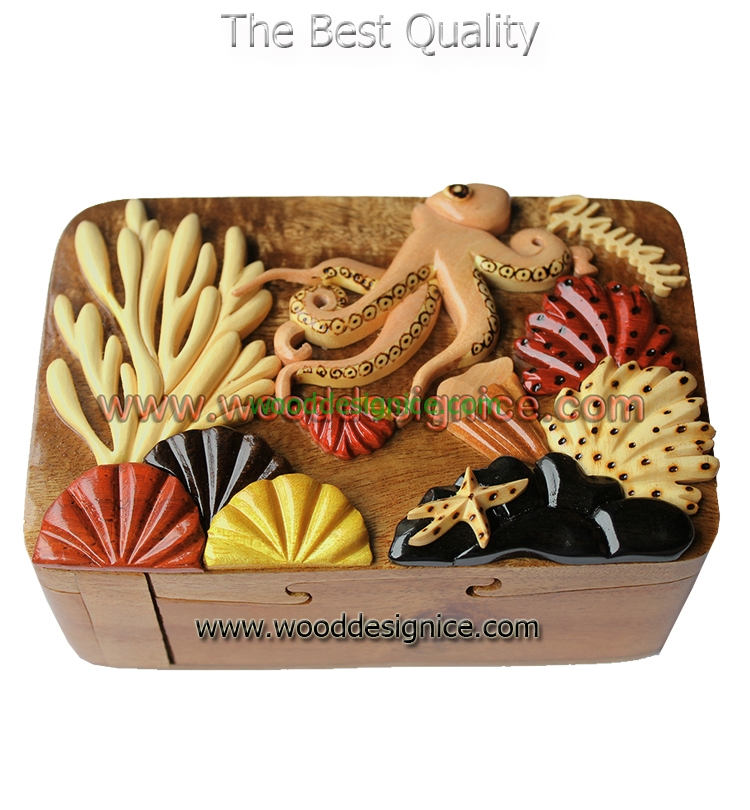 Wooden Puzzle Box PUZ090