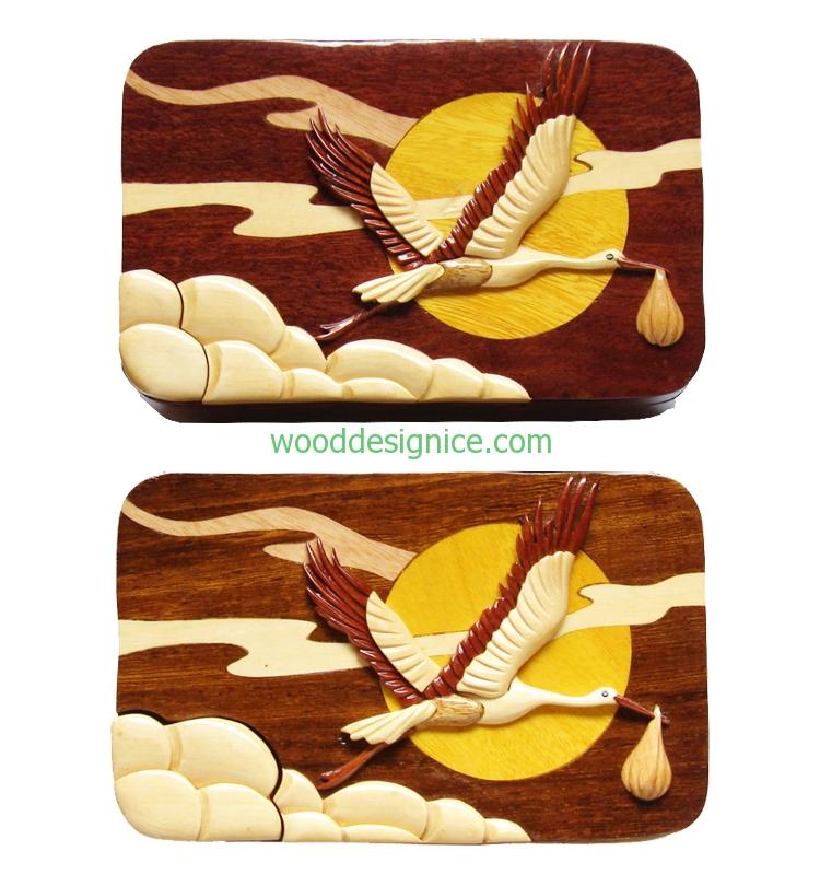 Wooden Puzzle Box PUZ044