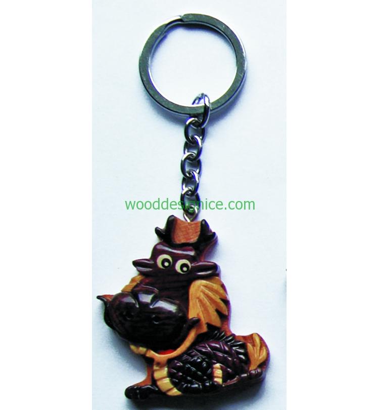 Wooden Keychain KEY001