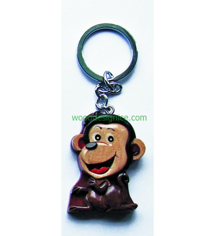 Wooden Keychain KEY004