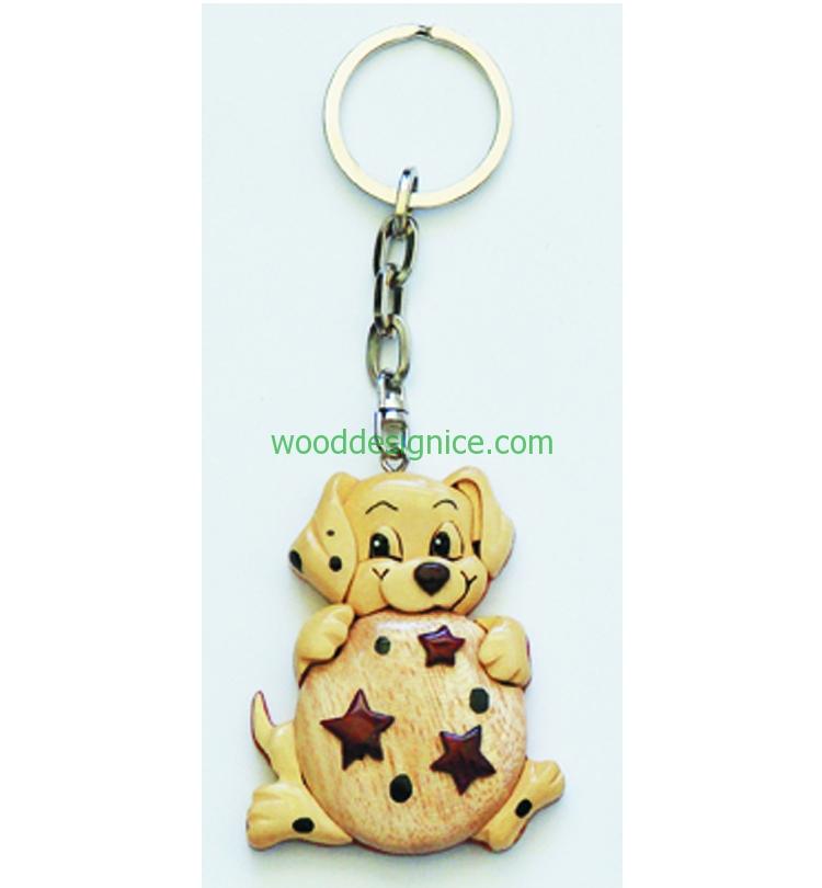 Wooden Keychain 013