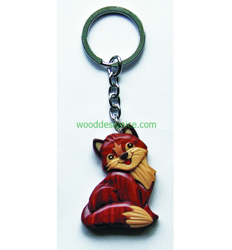 Wooden Keychain 017