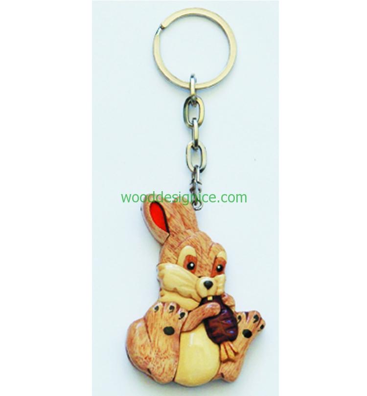 Wooden Keychain 019