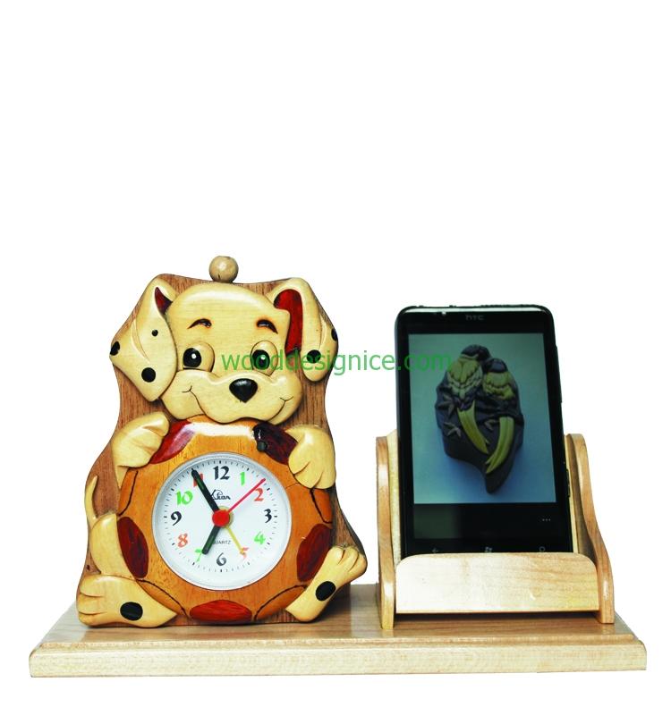 Wooden Clock Alarm CLK001A