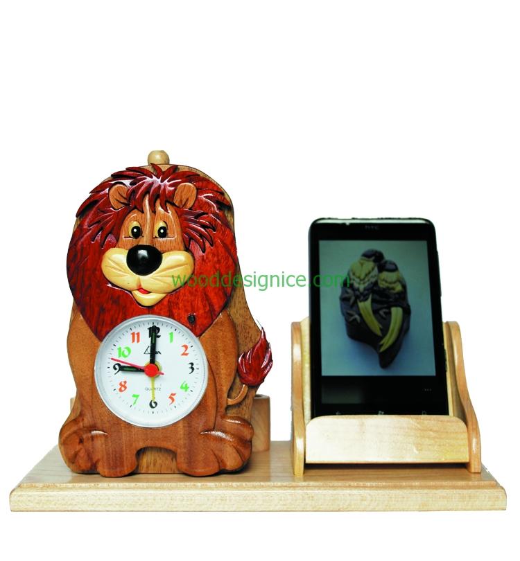 Wooden Clock Alarm CLK002A