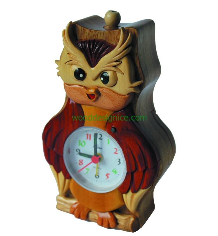 Wooden Clock Alarm CLK003