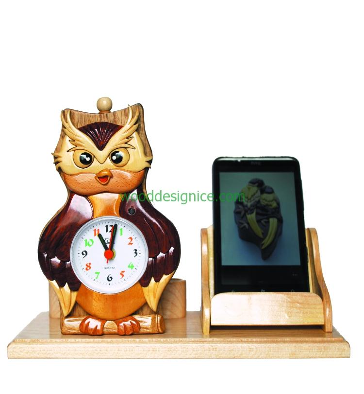 Wooden Clock Alarm CLK003A