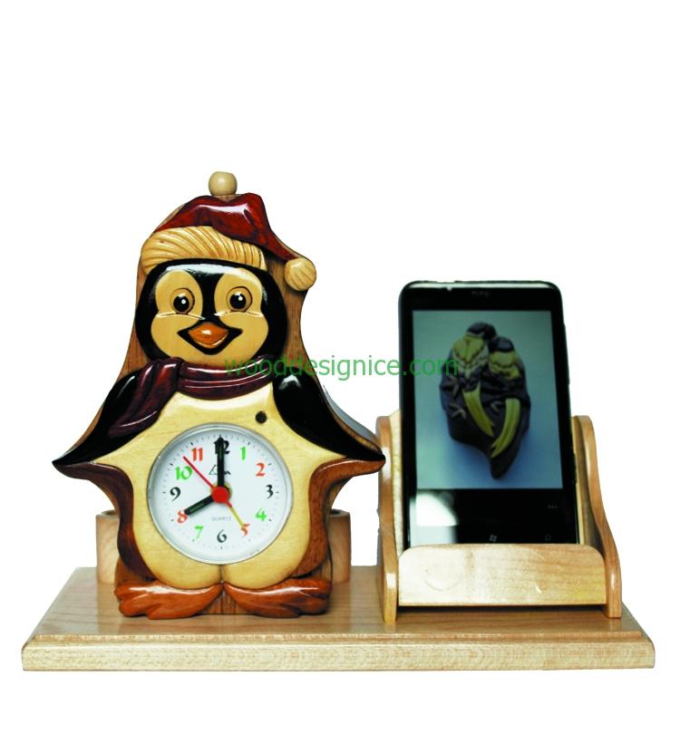 Wooden Clock Alarm CLK004A